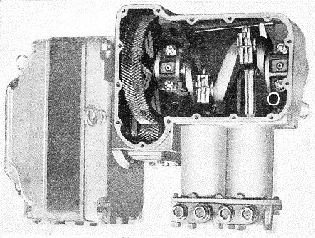 THE INTERIOR of an electric compressor