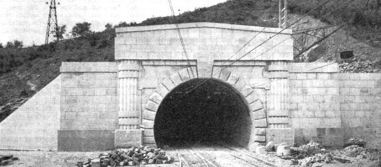 THE NORTHERN PORTAL of the Great Apennine Tunnel
