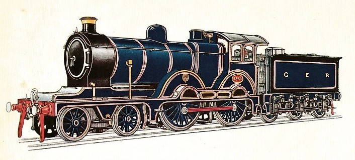 Great Eastern railway passenger express locomotive