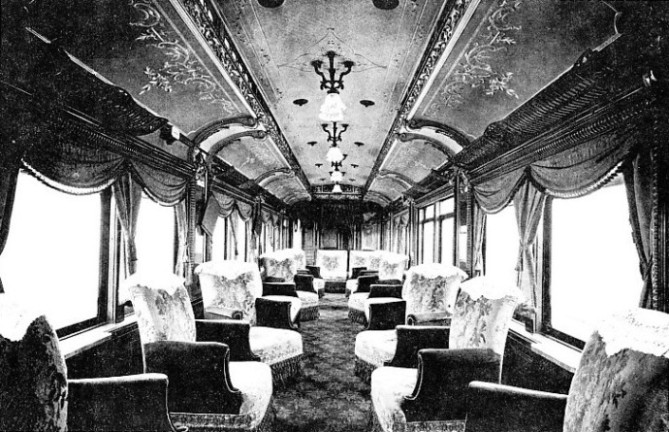 Drawing-room car of the Hastings Express, South Eastern & Chatham Railway