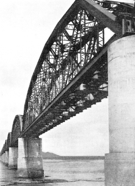 A CLOSE-UP VIEW of the Lower Zambesi Bridge in Portuguese East Africa