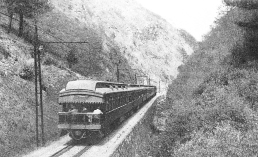"IN ""LITTLE HELL"" GORGE, on the line of the Mexican Railway"
