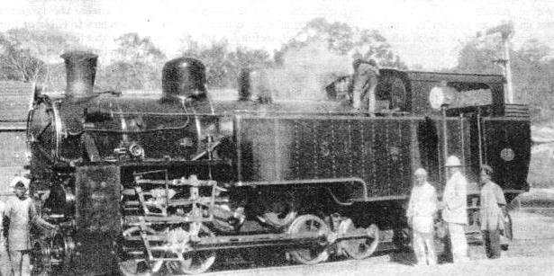 AN ABT SYSTEM rack railway locomotive built by the Swiss Locomotive Company, Winterthur, for the Nilgiri branch of the South Indian Railway