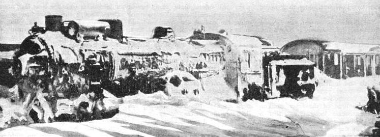 "the ""Orient Express"" imprisoned by snow, sixty-two miles from Istanbul."