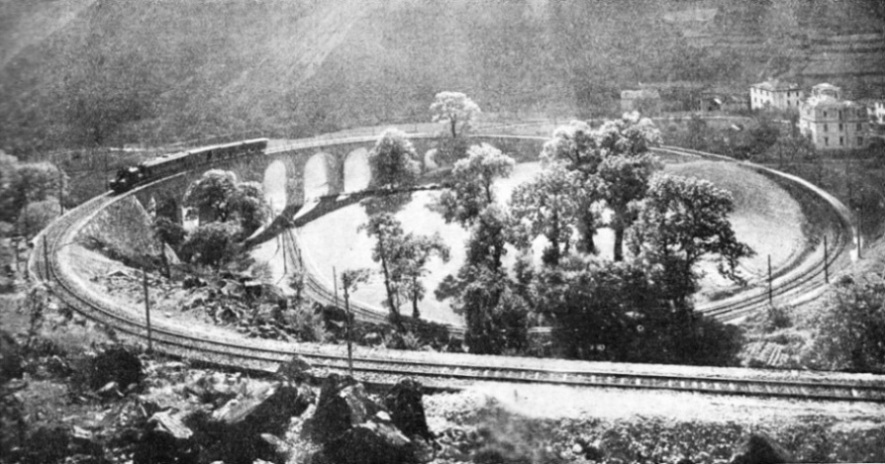 engineers on the Bernina Railway have used a spiral location near Brusio