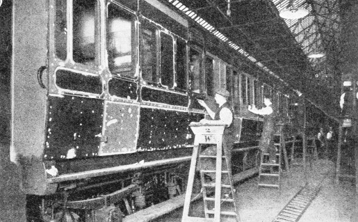 Preparing rolling stock in the LNER's works at York