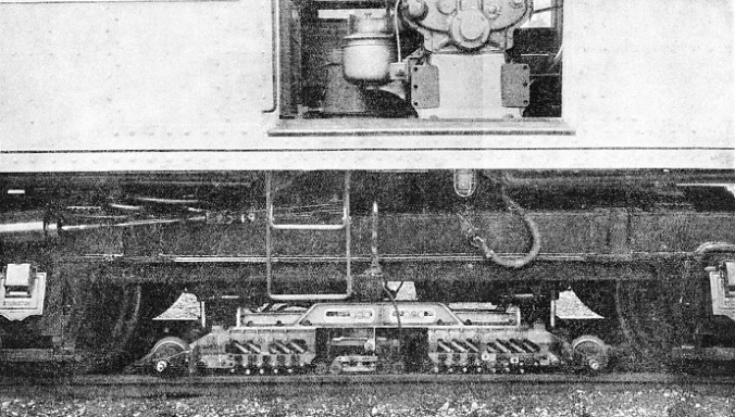 THE SEARCHING UNIT seen in the lowered position in contact with the rail