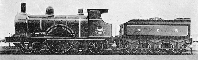 A single driver express engine designed by J Holden for the GER