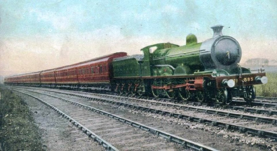 THE SOUTH EXPRESS ON THE GLASGOW AND SOUTH WESTERN RAILWAY