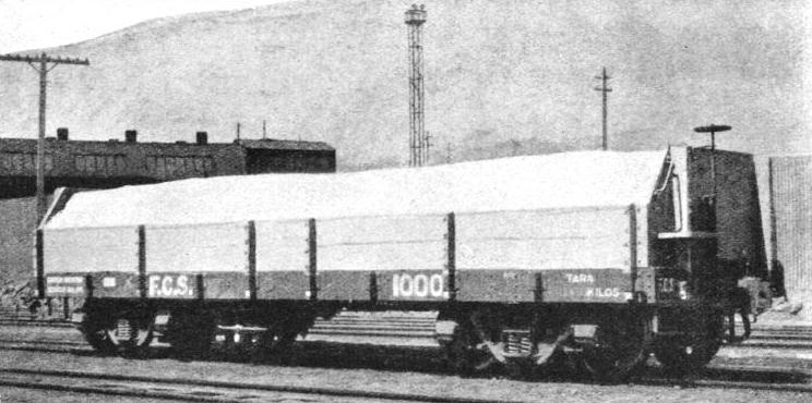 STANDARD FLAT WAGON used in Chile for carrying nitrate