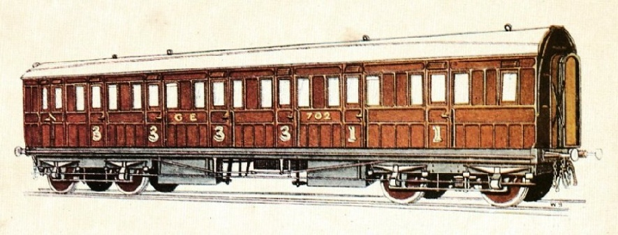 GREAT EASTERN RAILWAY COMPOSITE CARRIAGE, No. 702