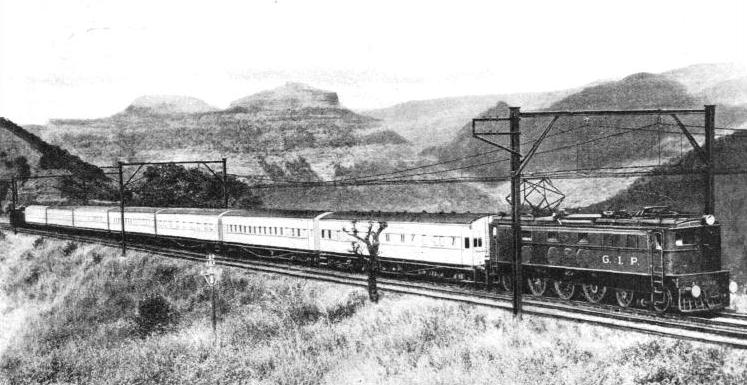 "THE ""DECCAN QUEEN"" on the electrified section of the Great Indian Peninsula Railway"