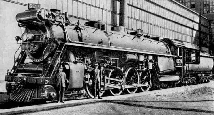 4-8-4 Express Locomotive Confederation (6100) Class, Canadian National Railways