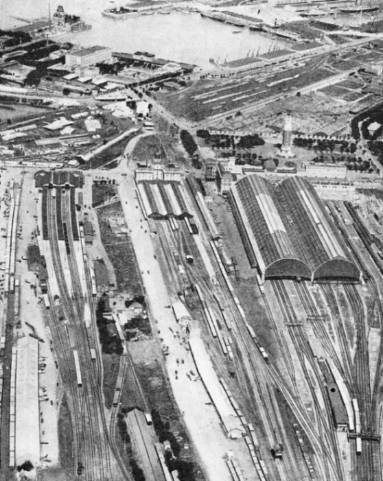 An aerial view of the three termini in Buenos Aires