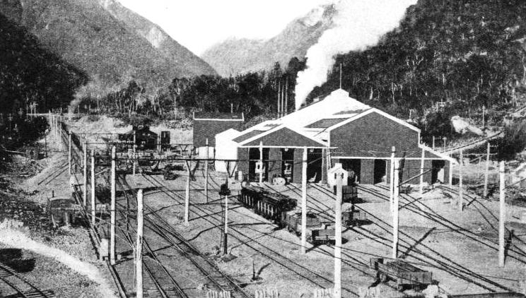 A view of the power-house and depot at Otira