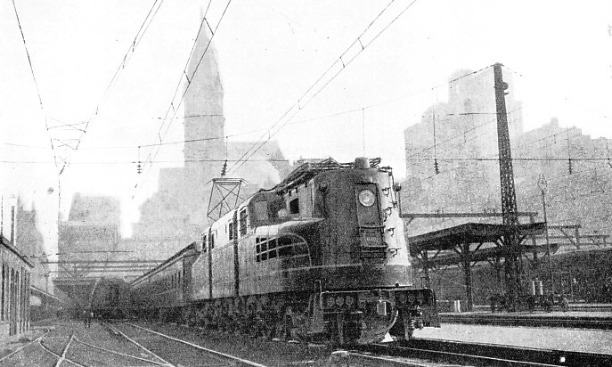 one of the hourly express trains is seen leaving Broad Street Station, Philadelphia