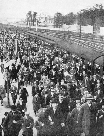 A crowd at Wembley Park Station