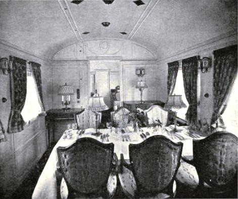 The Queen's Car - the Dining-Room, North Eastern Railway