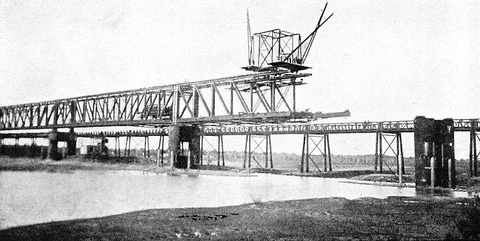 the Yi Bridge, here seen under construction