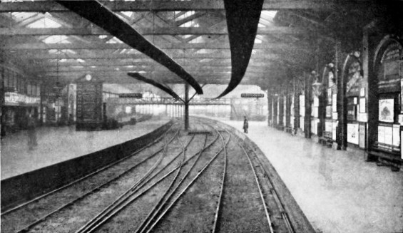 Main Line Departure Platforms at Waterloo, London & South Western Railway