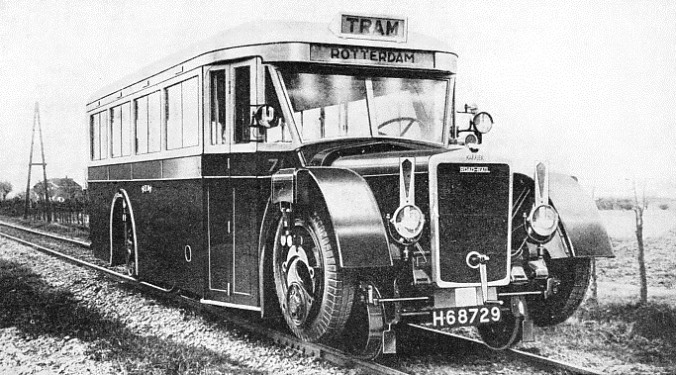 A COACH TYPE of road-railer built by the Karrier Motors, Ltd, for service on the lines of the Rotterdam Tramways