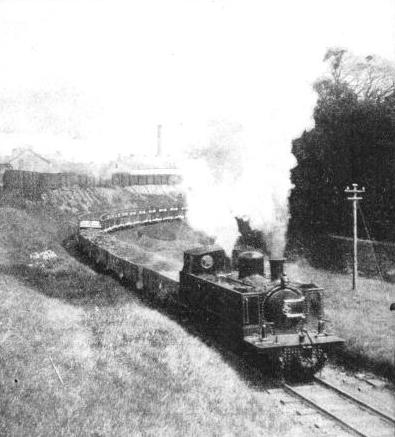 A goods train climbing a bank of 1 in 40 on the Northern Counties Committee line