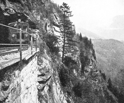 The Swiss Martigny-Chatelard electric railway