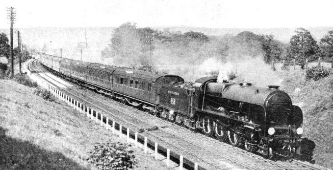 The Continental Express, near Hildenborough, on its daily journey between London and Dover.