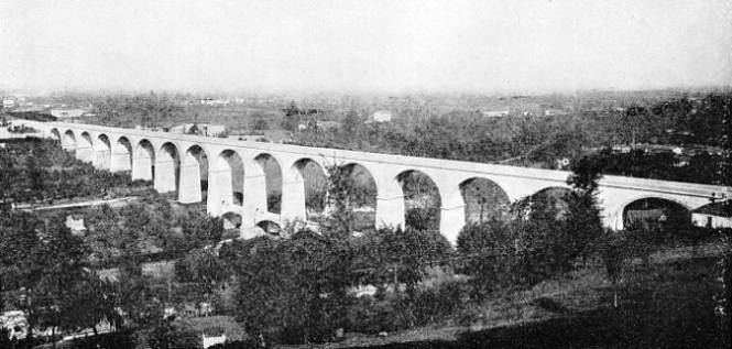 THE ELLERO TORRENT VIADUCT on the new Italian line near Mondovi