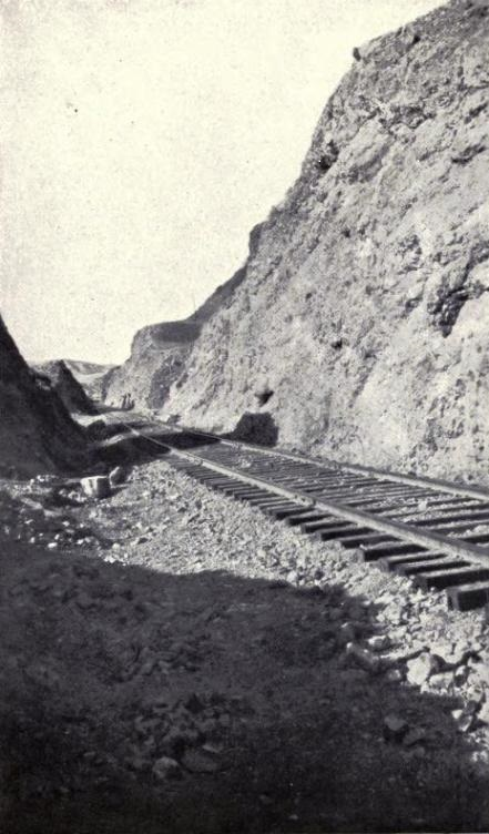 THE TRACK THROUGH THE BLISTERING BORAX AND NITRE GULCHES.
