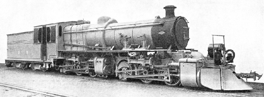 "A MODERN EXAMPLE of the ""Mallet"" type of semi-articulated locomotive"