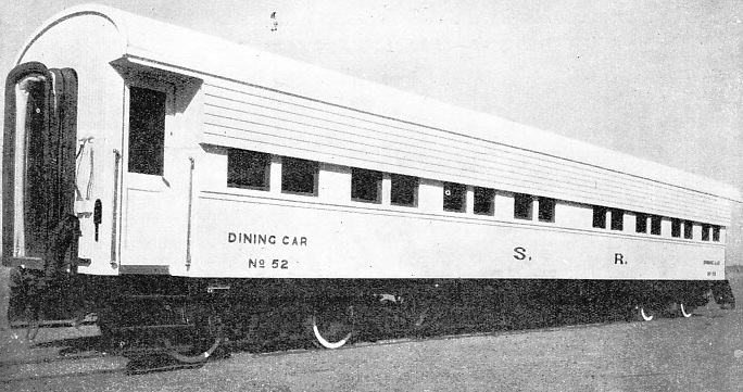 FOR PROTECTION AGAINST THE TROPICAL SUN and the pitiless glare of the desert, the dining-cars in the Sudan are painted white
