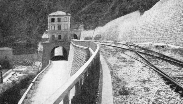 THE STATION OF PIENA on the Cuneo-Ventimiglia Railway