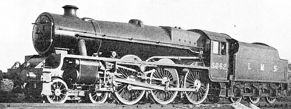 A three-cylinder 4-6-0 LMS engine built at Derby in 1934