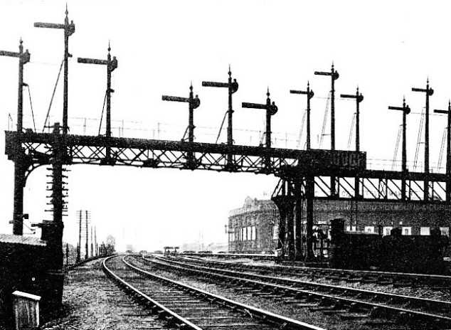 Signal Gantry at Stratford, Great Eastern Railway