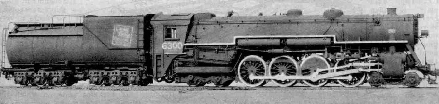 4-8-4 Express Locomotive, Canadian National Railways, 6300 class