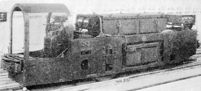 Battery driven locomotive on the Post Office Railway