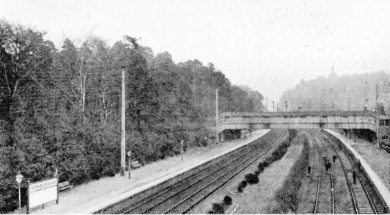 Farnborough station London & South Western Railway