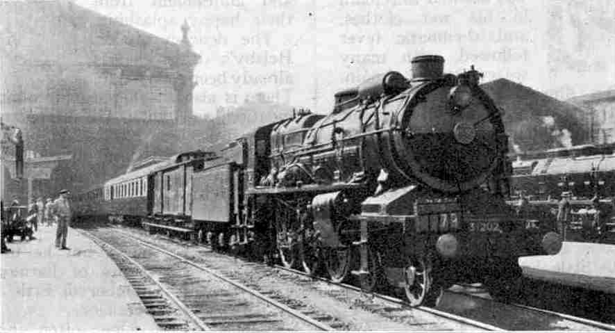 One of the Nord Super Pacifics, on the Golden Arrow at Paris (Nord)