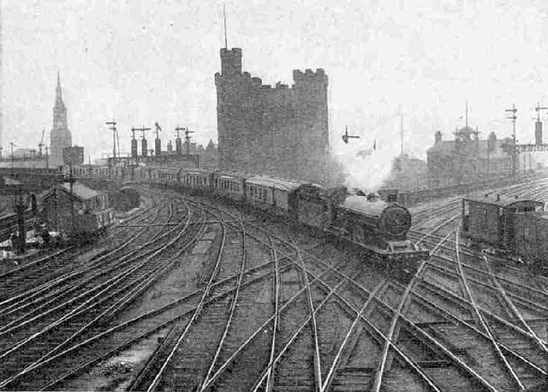 The Queen of Scots Pullman Car Express entering Central Station, Newcastle-on-Tyne