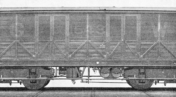 A FAST GOODS WAGON fitted with vacuum brakes