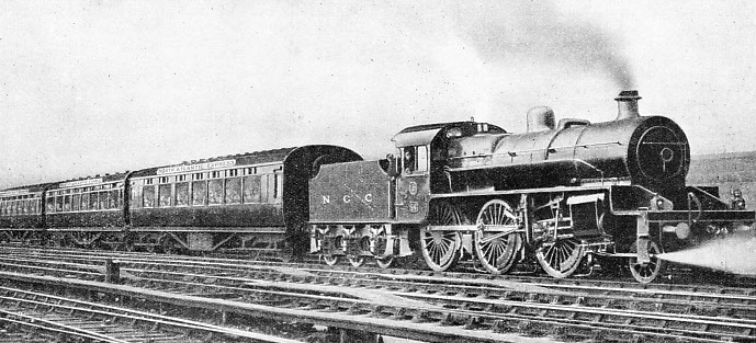 "THE ""NORTH ATLANTIC EXPRESS"" of the Northern Counties Committee (LMS) system leaving Belfast"