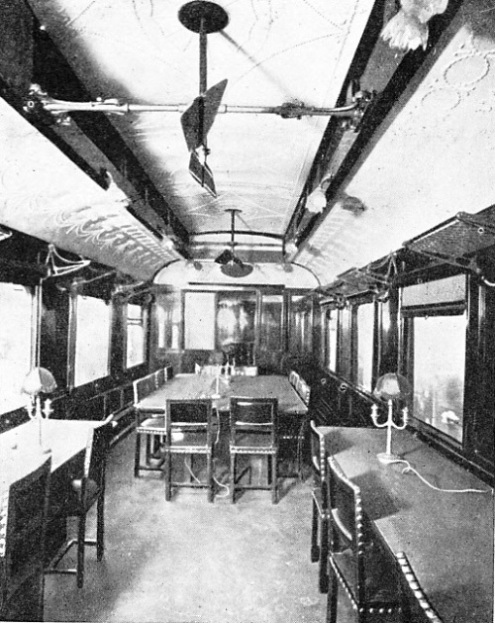 THE INTERIOR of the historic coach in which the Armistice was signed