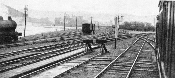 Complicated track construction at Llandudno Junction on the LMS