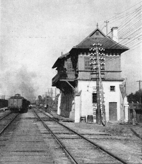 A signal box at Czestochowa, in southern Poland