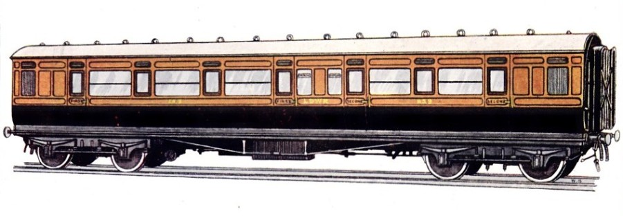 London & South Western Railway composite corridor carriage no. 859