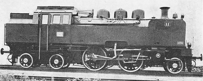 An unusual 2-4-4 tank locomoitve built at Prague for the Lithuanian State Railways