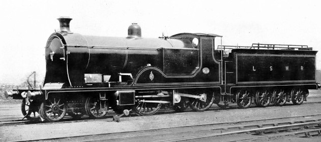 Express passenger locomotive no 720 London & South Western Railway