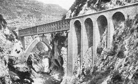 THE BEVERA VIADUCT, near the town of Breil