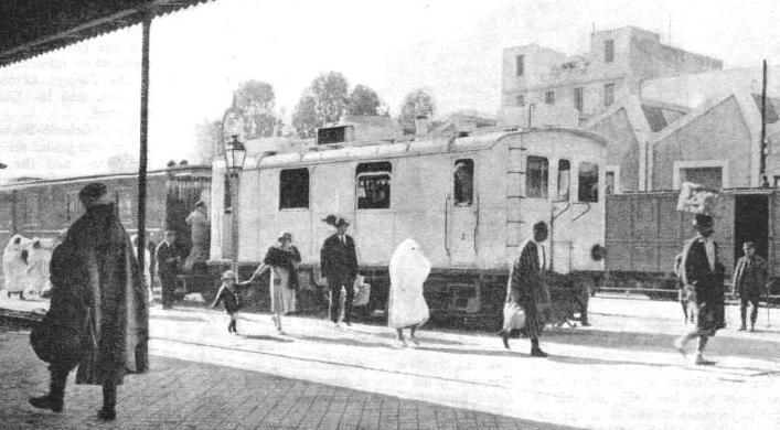 A typical scene in a Tunisian railway station